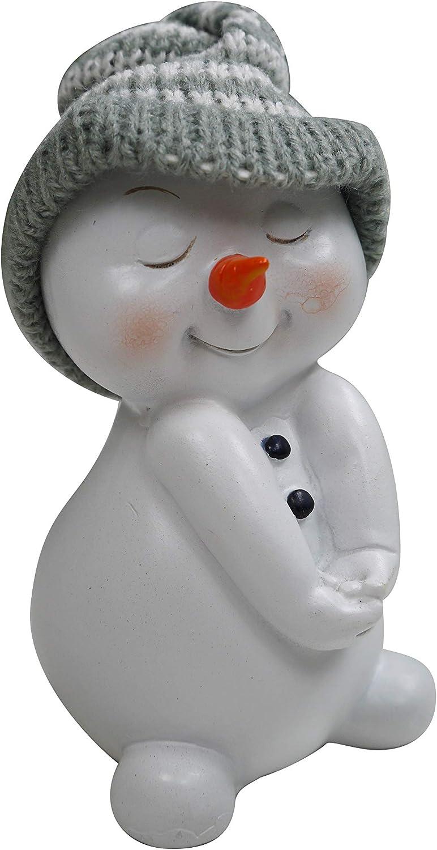 khevga Weihnachtsdeko Deko-Figuren Schneemann im 4er Ma/ße ca 6x6x11 cm