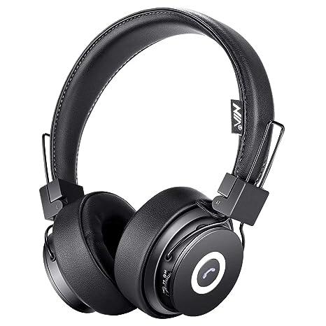 Auriculares Bluetooth en la oreja, estéreo Hi-Fi plegables ...