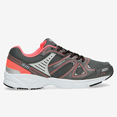 IPSO Zapatillas Running Tech Gris Mujer (Talla: 41): Amazon.es ...