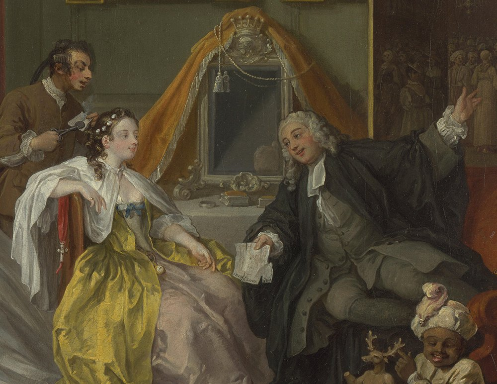 The Toilette Giclee Art Paper Print Poster Reproduction William Hogarth