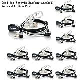 Walkie Talkies Earpieces (10 packs) 2 Pin Covert Air Acoustic Tube Headset for Retevis H-777 Kenwood PUXING Baofeng UV-5R BF-888S 2 Way Radio
