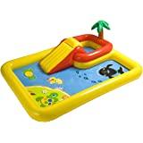 Intex 57454EP 100-inch x 77-inch Inflatable Ocean Children's Play Center Outdoor Backyard Kiddie Pool and Game Set