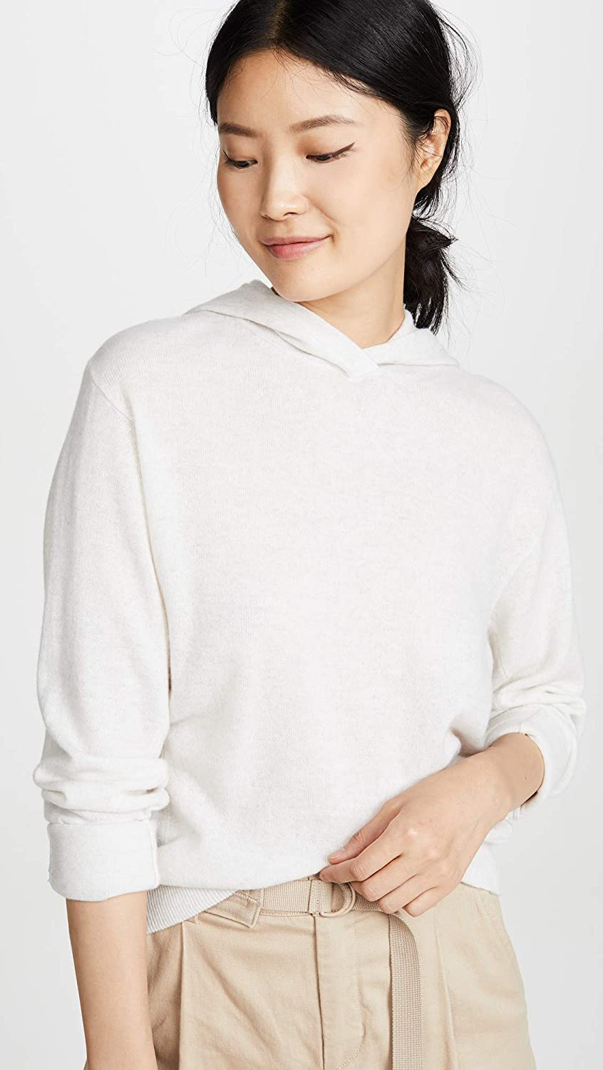 Vince Womens Cashmere Overlap Hoodie