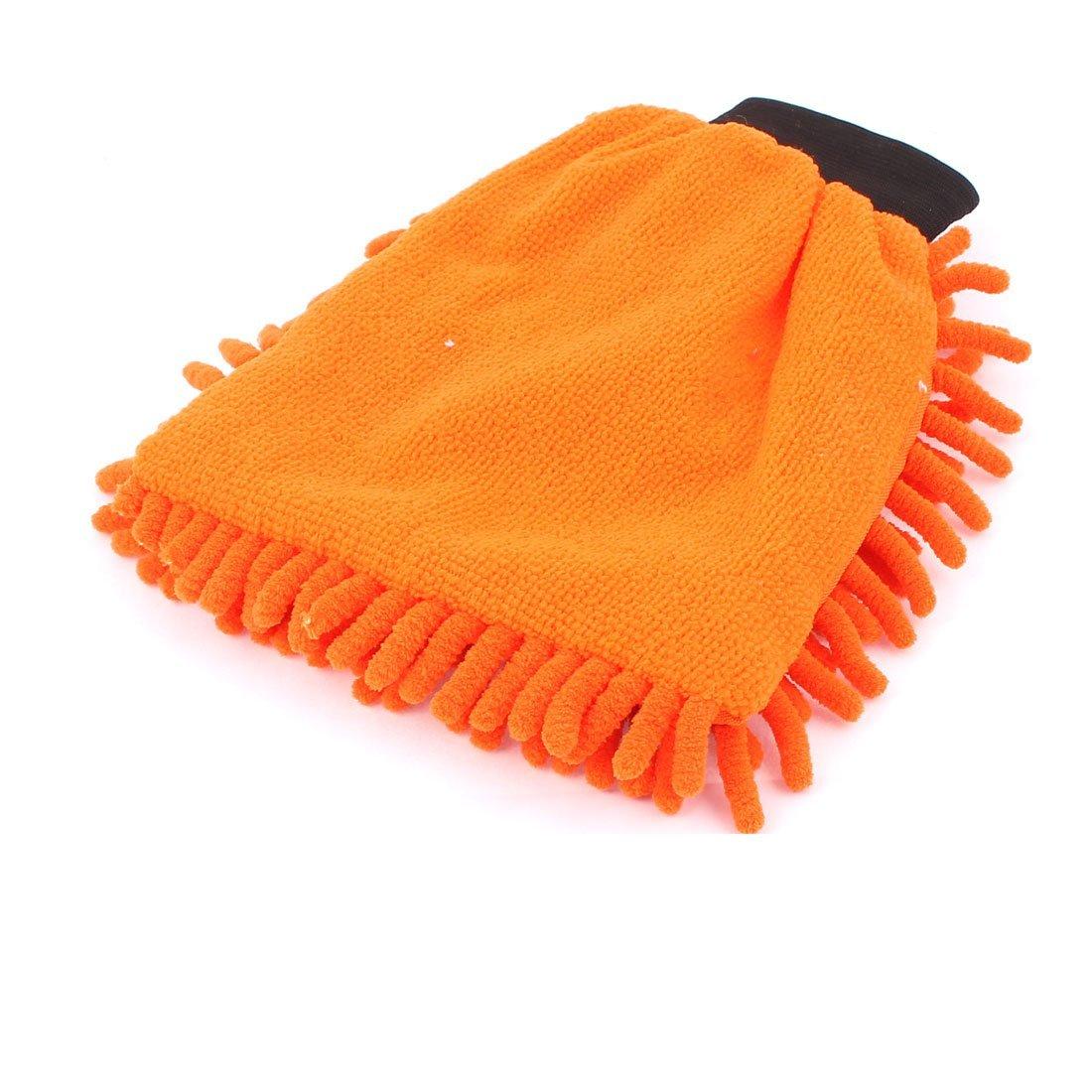 Amazon.com: eDealMax Hogar Ventana de coche de Lavado de limpieza plumero Toalla Mitt Guante de Orange: Automotive
