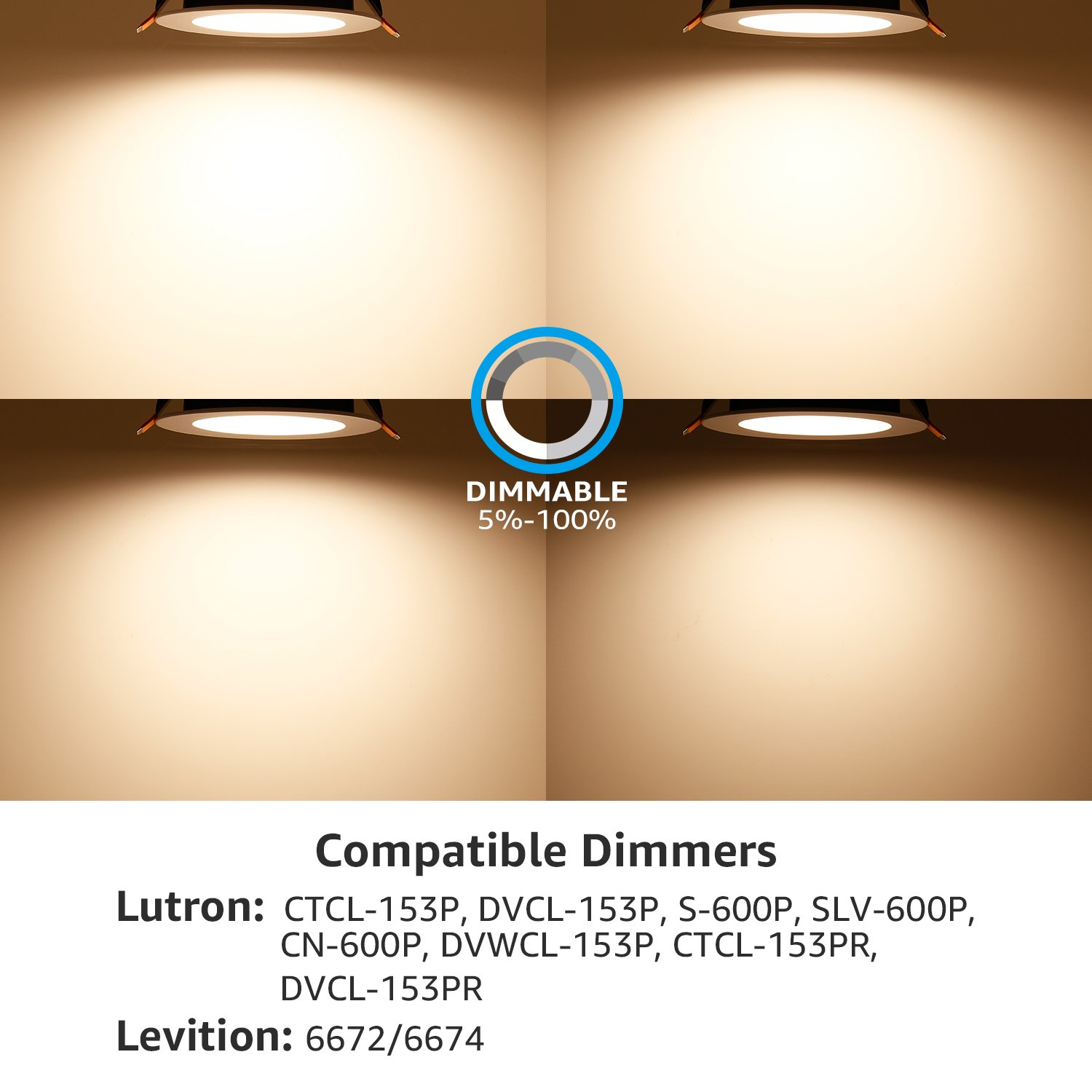 "TORCHSTAR 12W 4"" Slim Recessed Ceiling Light with Junction Box, Dimmable Can Killer, IC Rated Airtight Downlight, 90W Equiv, ETL & Energy Star Certified, 3000K Warm White by TORCHSTAR (Image #5)"