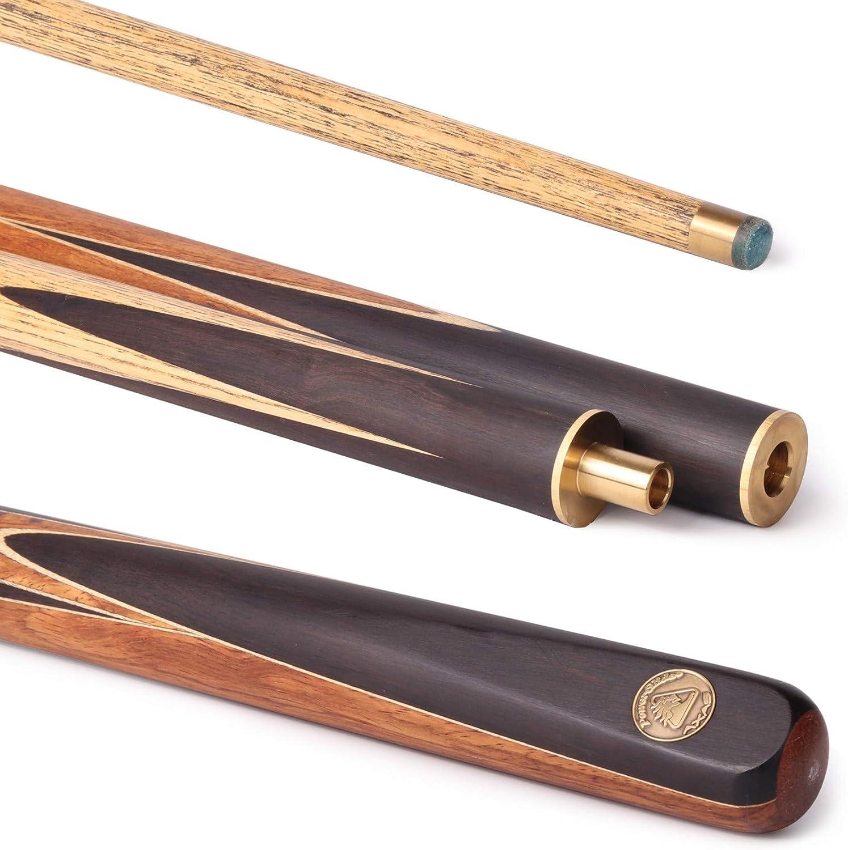 POWERGLIDE Axas - Taco de Snooker Profesional (ébano, 144 cm, 3 Partes, Unisex, tamaño Mediano): Amazon.es: Deportes y aire libre