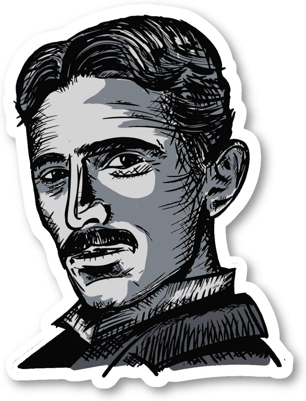 Nikola Tesla Sticker Historical Figures Stickers - Laptop Stickers - 2.5 Inches Vinyl Decal - Laptop, Phone, Tablet Vinyl Decal Sticker S214517