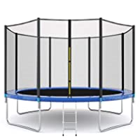 Boddenly 𝕋rampolines with Safety Enclosure Net, 12 Ft, 600 lbs Weight Capacity, Recreational Combo Bounce Jump 𝕋rampolines, Outdoor 𝕋rampolines for Kids, Galvanized Steel Frame Heavy 𝕋rampolines