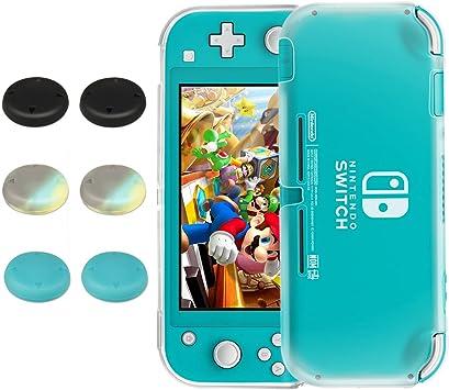 Funda para Nintendo Switch Lite, innoAura Funda Protectora de TPU Ultra Slim Suave y Transparente con 6 Tapas de ...