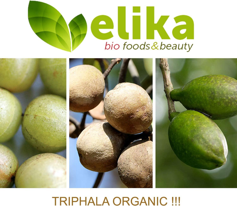 BIO Triphala Elikafoods® ORGÁNICA. 240 comprimidos de 500 mg. Limpia y desintoxica el colon. Contra el estreñimiento. Natural, bio, vegana y sin ...