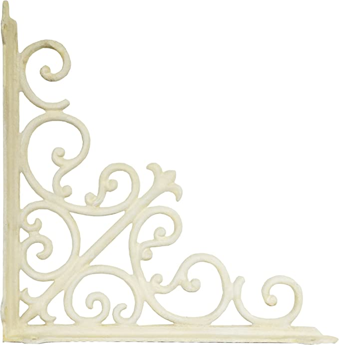 NACH js-90-063AW-2 Victorian Shelf Bracket Set of 2 White 15.3-Inch X 15.3 X 1.96-Inch Large