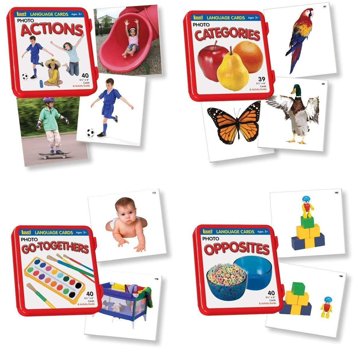 Lauri Language Cards Bundle - Actions, Categories, Go-Togethers, Opposites (Set of 4) by Lauri