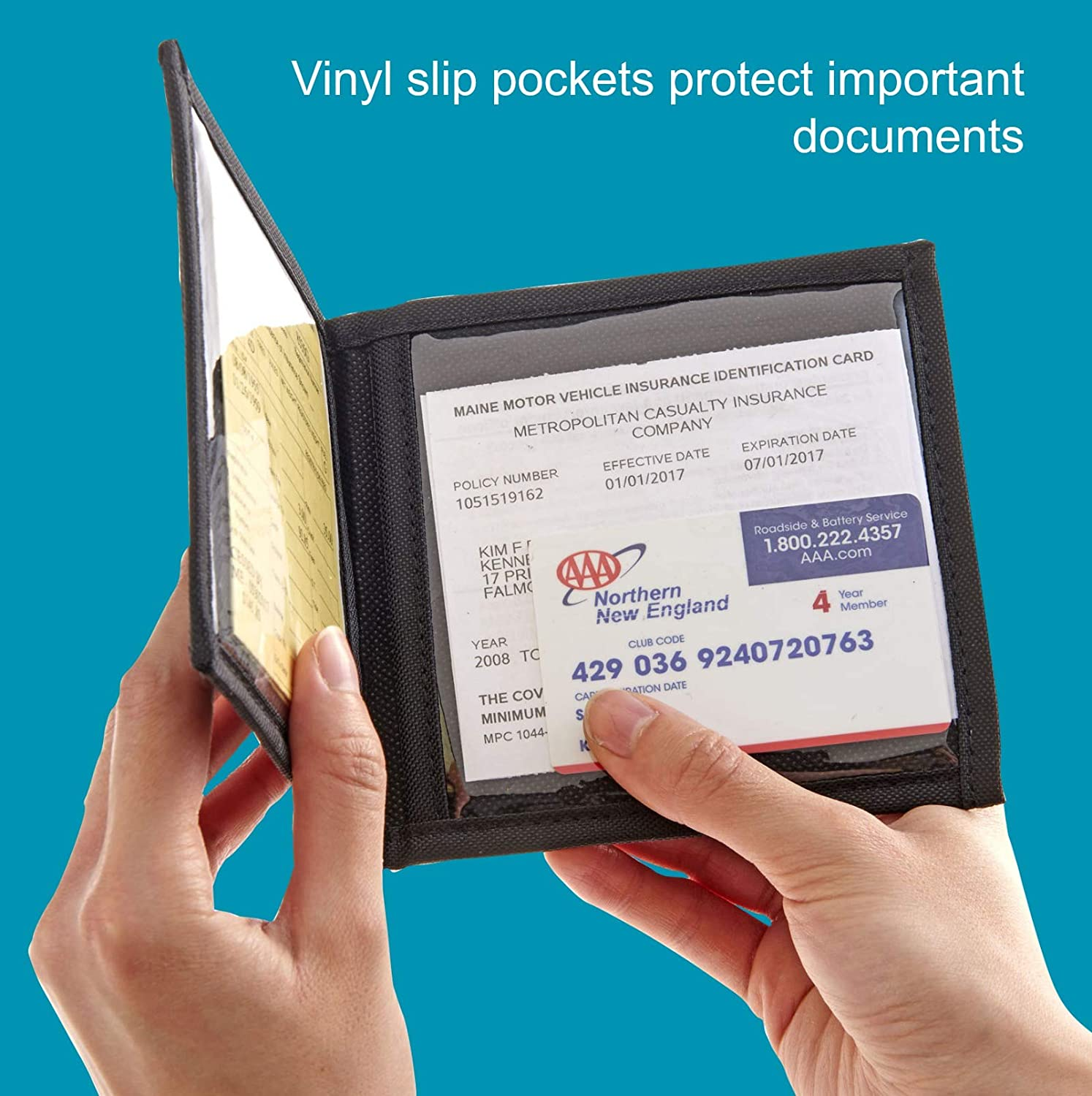 High Road Car Registration and Insurance Card Holder for Sun Visor, Glove  Box or Console