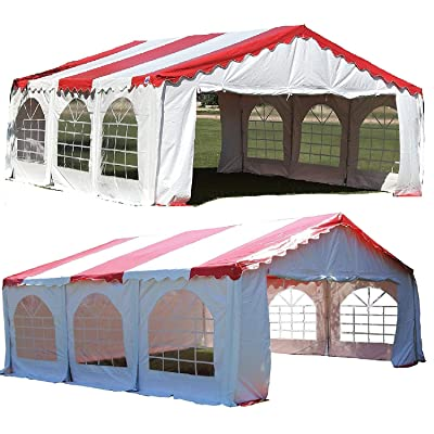 DELTA Canopies Budget PVC Party Tent Shelter Canopy 20'x20' - Red White: Garden & Outdoor