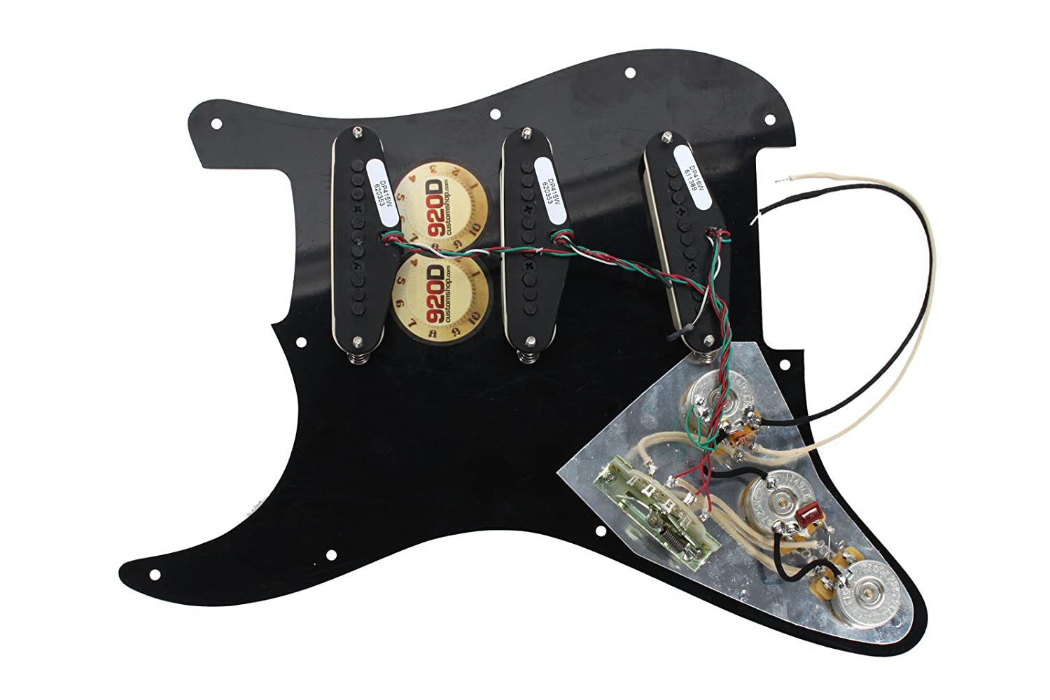 Dimarzio Area 58 61 Lincoln Brewster Loaded Wiring Diagrams Pickguard Prewired To Aw Musical Instruments