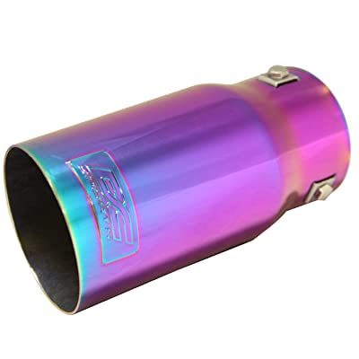 DC Sports EX-1021 Chameleon Anodized Round Exhaust Tip: Automotive