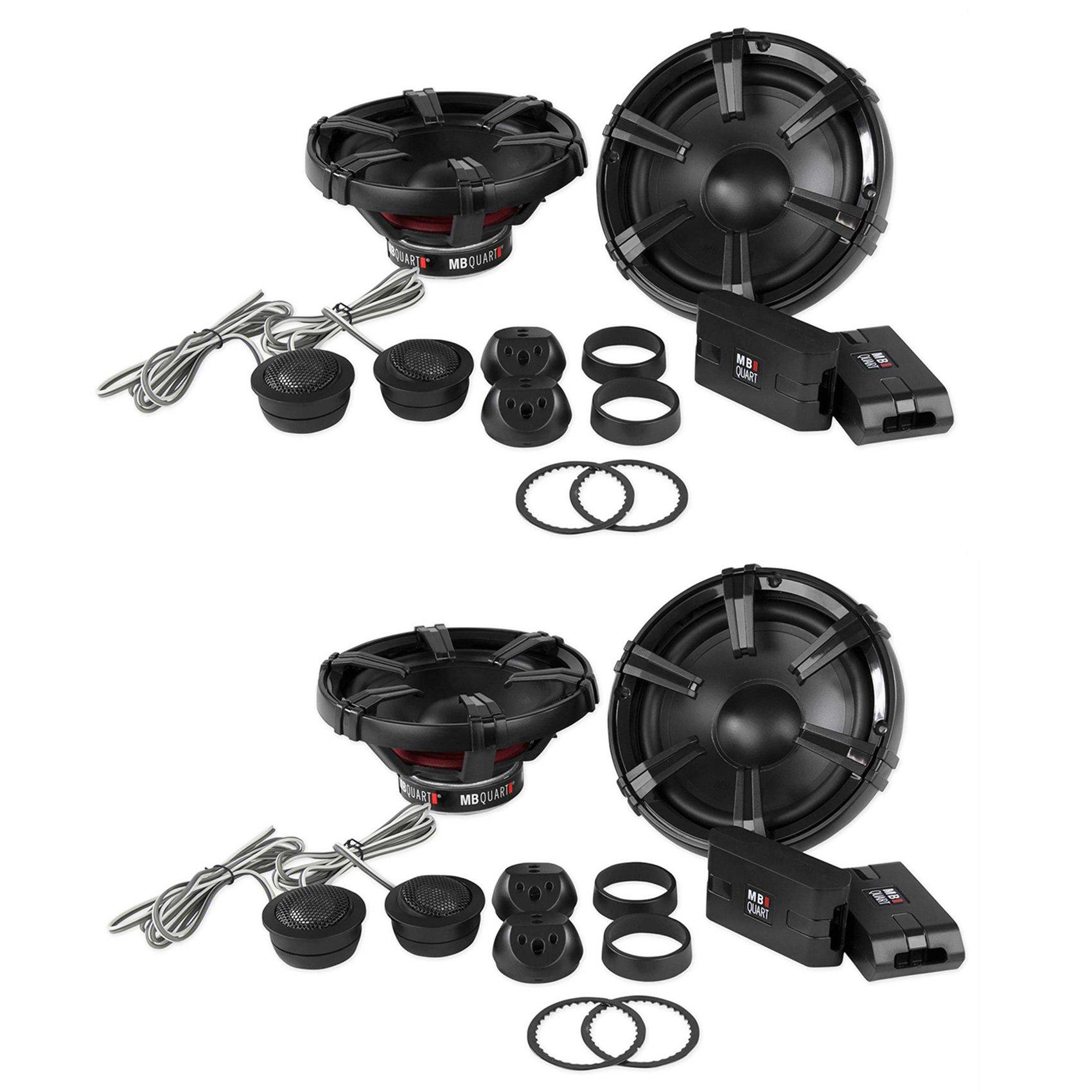 4 MB Quart 6.5'' 90 Watt Component Speakers Speaker System Set Four| DC1-216