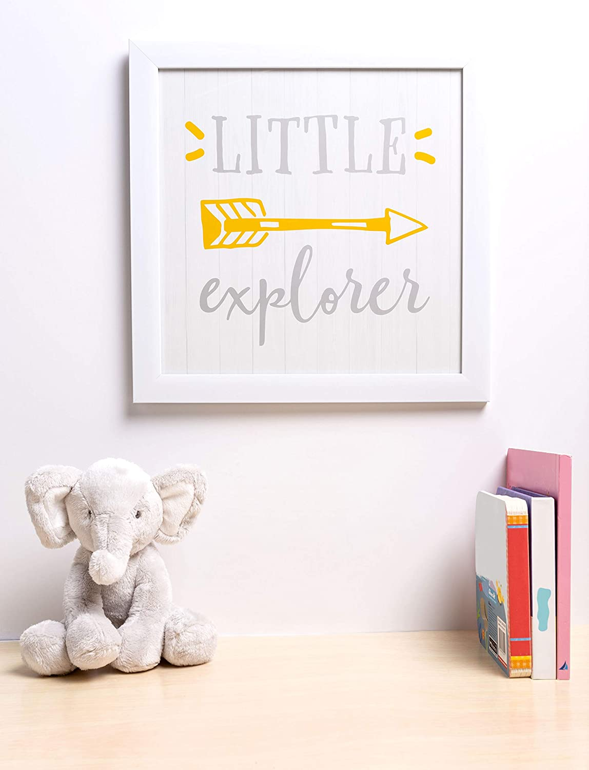 Addition to Baby Registry Kate /& Milo Elephant Wall Plaque Rustic Woodland Nursery D/écor Gray