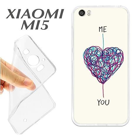J104 XIAOMI MI5 CARCASA FUNDA TPU ME LOVE YOU TE QUIERO YO ...