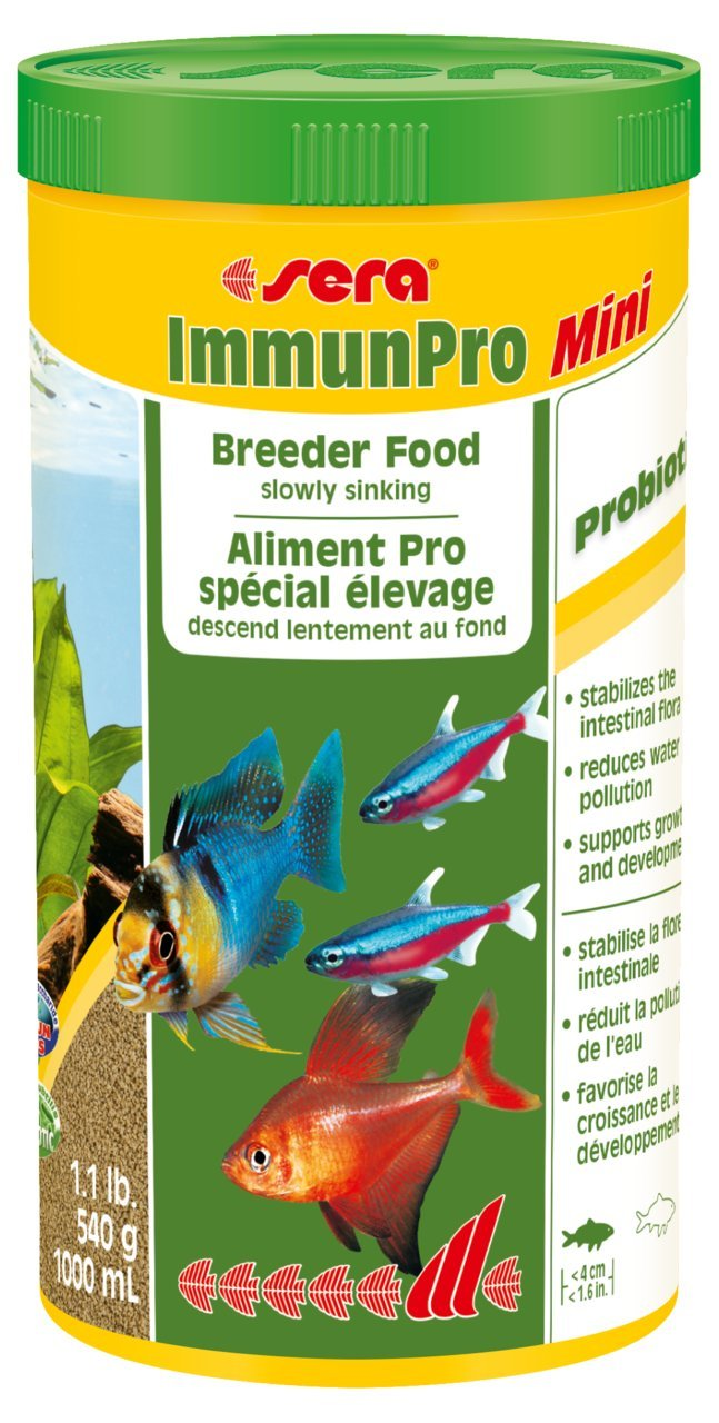 Sera Immun Pro Mini Freshwater Fish Food, 1.1 lb/1000ml/Small by Sera