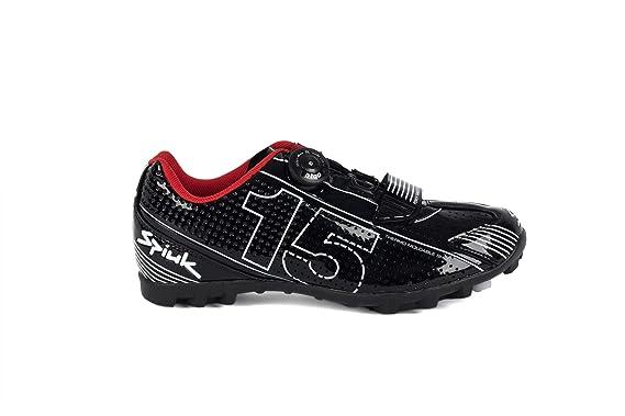 Spiuk 15 MTB - Zapatilla de ciclismo unisex, color negro/blanco, talla 37: Amazon.es: Deportes y aire libre
