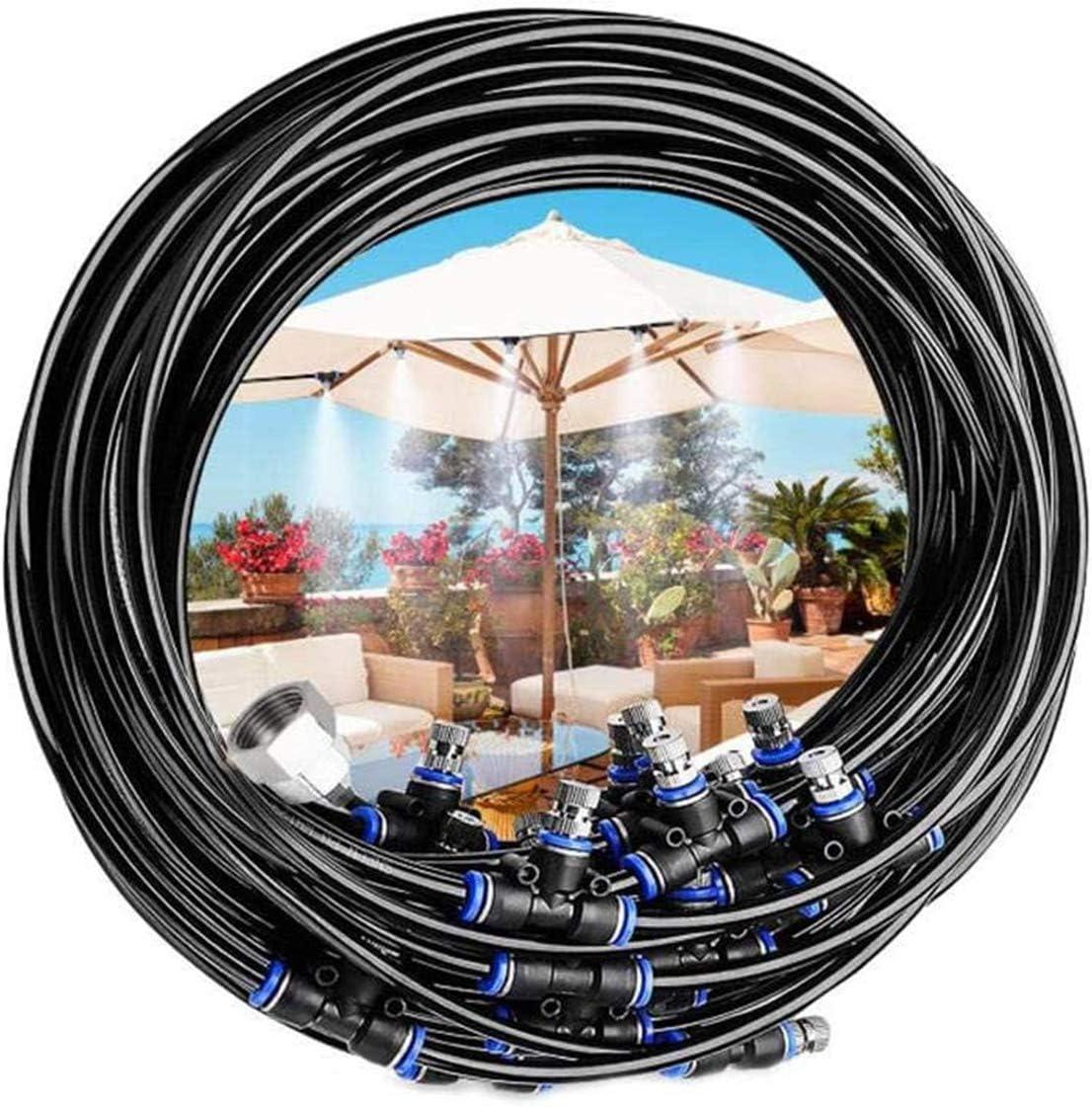 Juego de aspersores para trampolín de Rehomy, juego de agua de verano, accesorios para trampolín, juguete de agua divertido, sistema de refrigeración de nebulización (18 m)