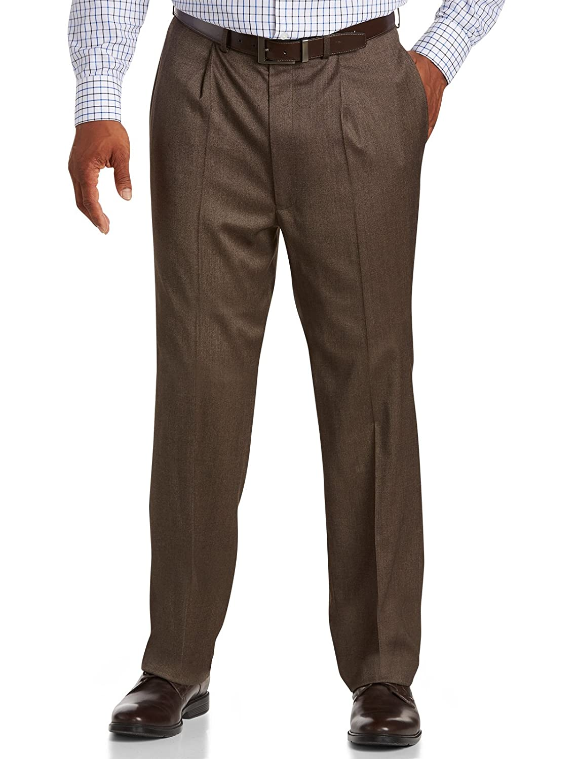 Geoffrey Beene Big & Tall Textured Solid Suit Pants