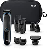 Braun Multi Grooming Kit MGK3980 Black/Blue – 9-In-1 Precision Trimmer for Beard & Hair Styling