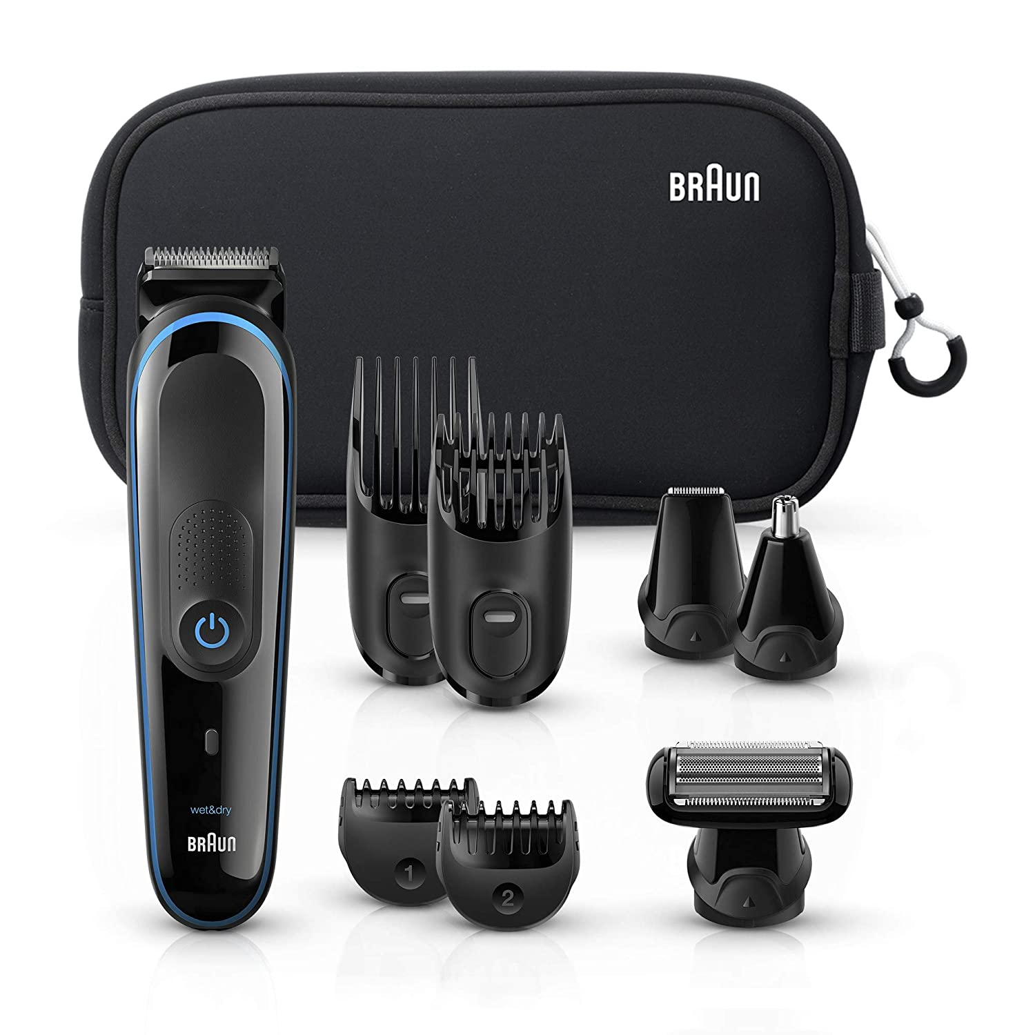 Braun Multi Grooming Kit MGK3980 Black Blue   9-In-1 Precision Trimmer for Beard   Hair Styling