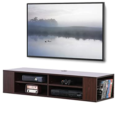 FITUEYES Wall Mounted Audio Video Console for Xbox one PS4 DVD Players DS212001WB