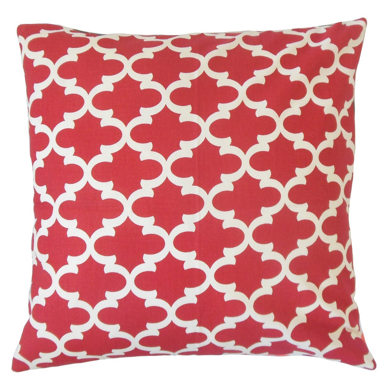 The Pillow Collection Vilayna Geometric Bedding Sham Red Queen//20 x 30