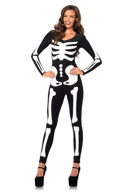 Leg Avenue Women's Spandex Printed Glow-In-The-Dark Skeleton Catsuit Leg Avenue Costumes 85346