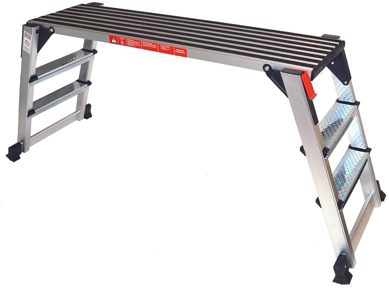 Arbeitsplattform Arbeitsb/ühne Ger/üstleiter 70 cm oder 48 cm Arbeitsh/öhe Aluleiter Tritt Stufentritt 48 cm Arbeitsh/öhe