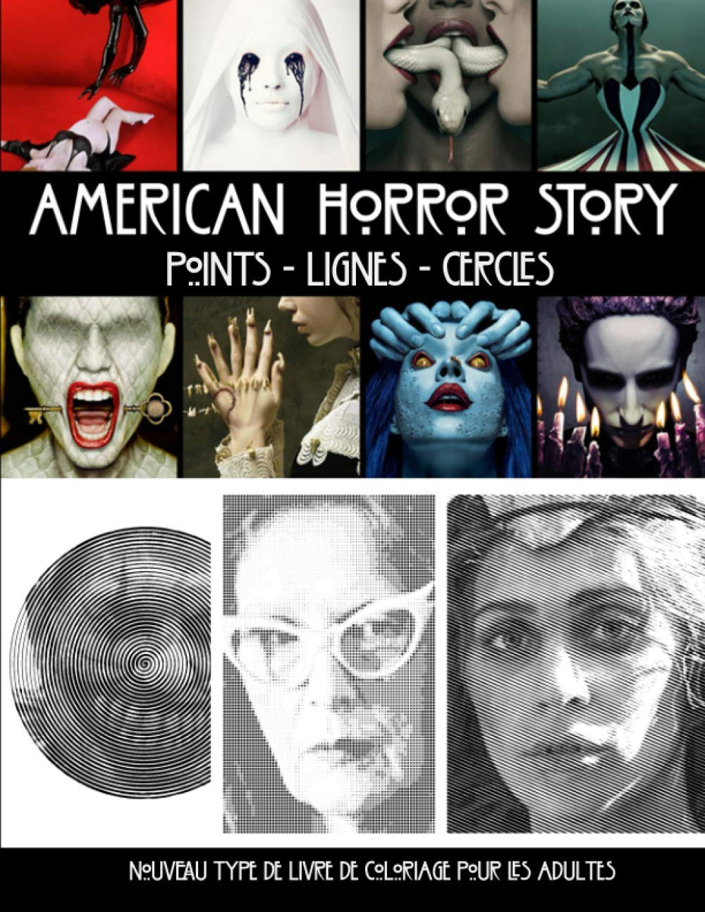 American Horror Story Points Lignes Cercles Nouveau type de livre ...