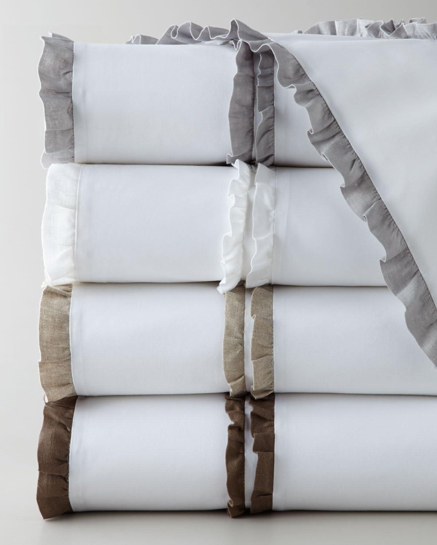 Be-You-tiful Home Double Ruffle Sheet Set, King, Natural