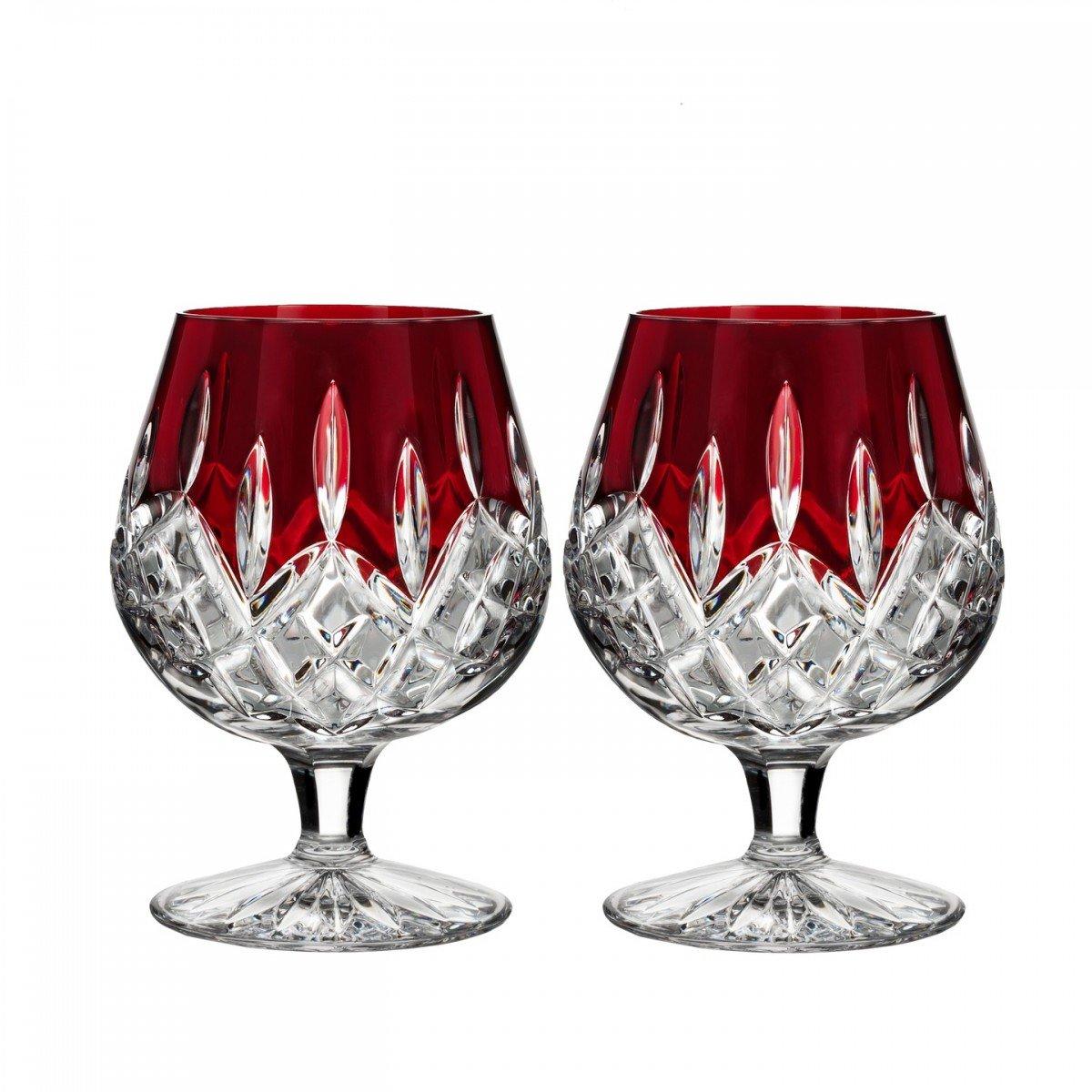 Waterford Lismore Red Brandy, Pair by Waterford