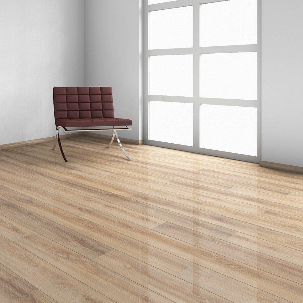 Elesgo Nostalgic Natural Oak Supergloss Plank 20 66 Sq Ft German Made Laminate Flooring