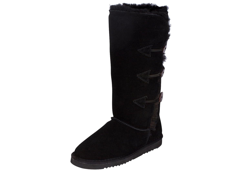 Kemi Women's Classic Emily Triplet Toggle Winter Boot B07779KHKC 6 B(M) US|Black