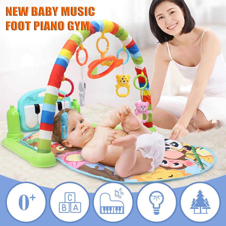 FairytaleMM Alfombra de Juego Multifuncional para bebés Juguete de Gimnasio para niños pequeños Alfombra de rastreo de Suelo con música Pedal de Piano Marco ...