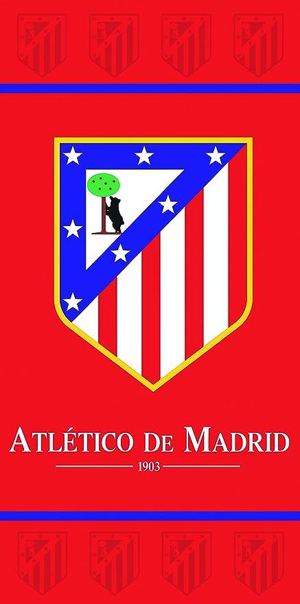Atlético de Madrid Toalla Algodón, Rojo 39x26x5 cm
