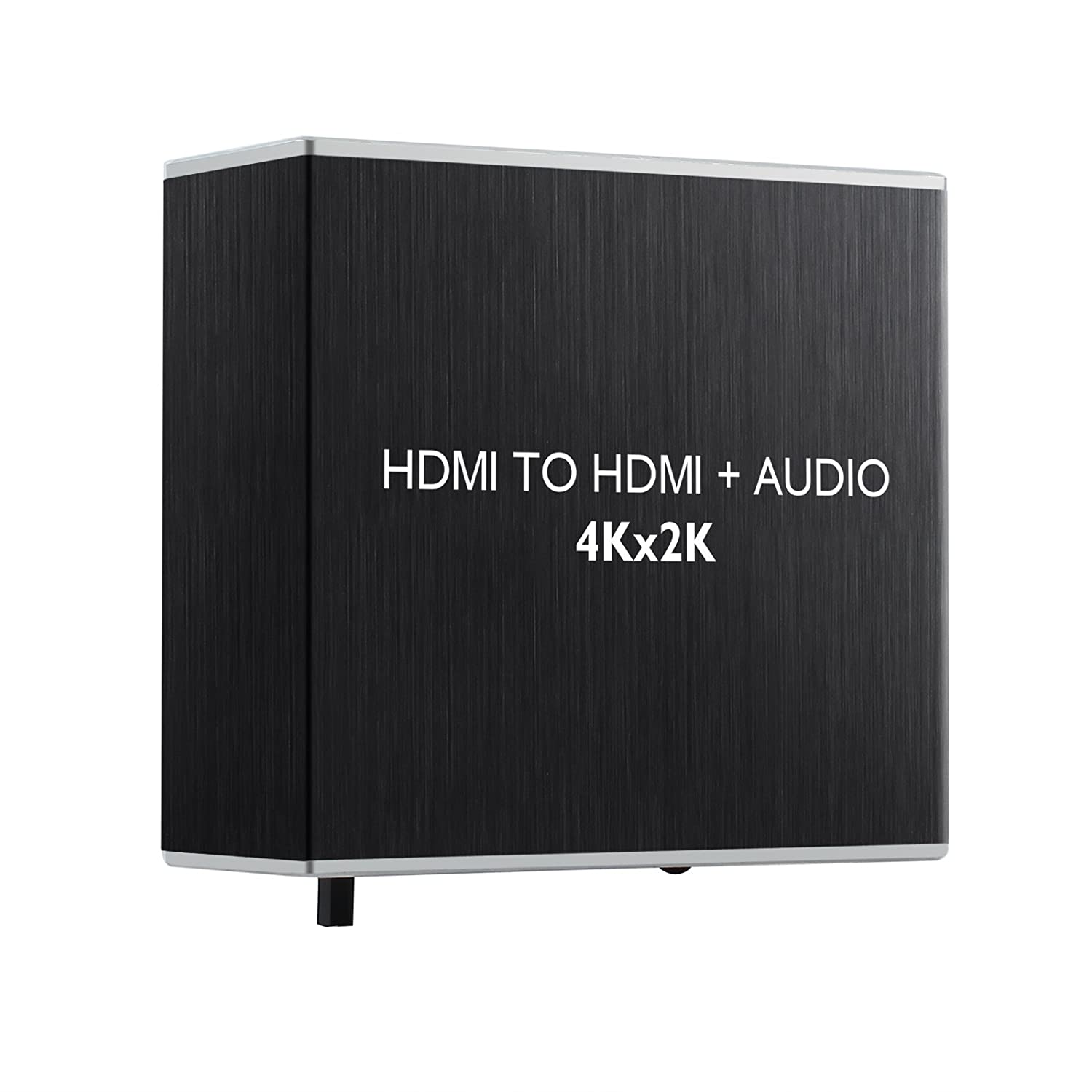 LiNKFOR HDMI 1.4 Audio Extractor Support 4K 3D HDMI to HDMI and Digital Optical Toslink SPDIF 3.5mm Stereo Audio Extractor with 3.5mm to RCA Stereo Audio Cable Compatible with HDTV Xbox PS4 PS3 Etc