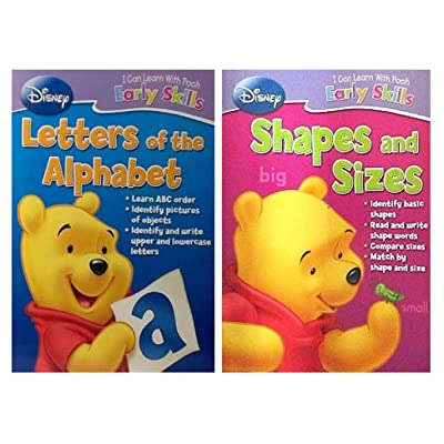 Early Skills Disney I Can Learn with Pooh (Shapes and Sizes, Letters of The Alphabet) -TG-21: Toys & Games