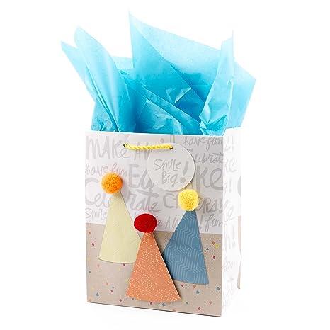 Amazon.com: Hallmark – Tarjeta de bolsa de regalo con tela ...
