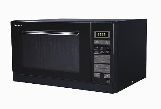 Sharp - Microondas (25 litros, 900 W), color negro: Amazon ...