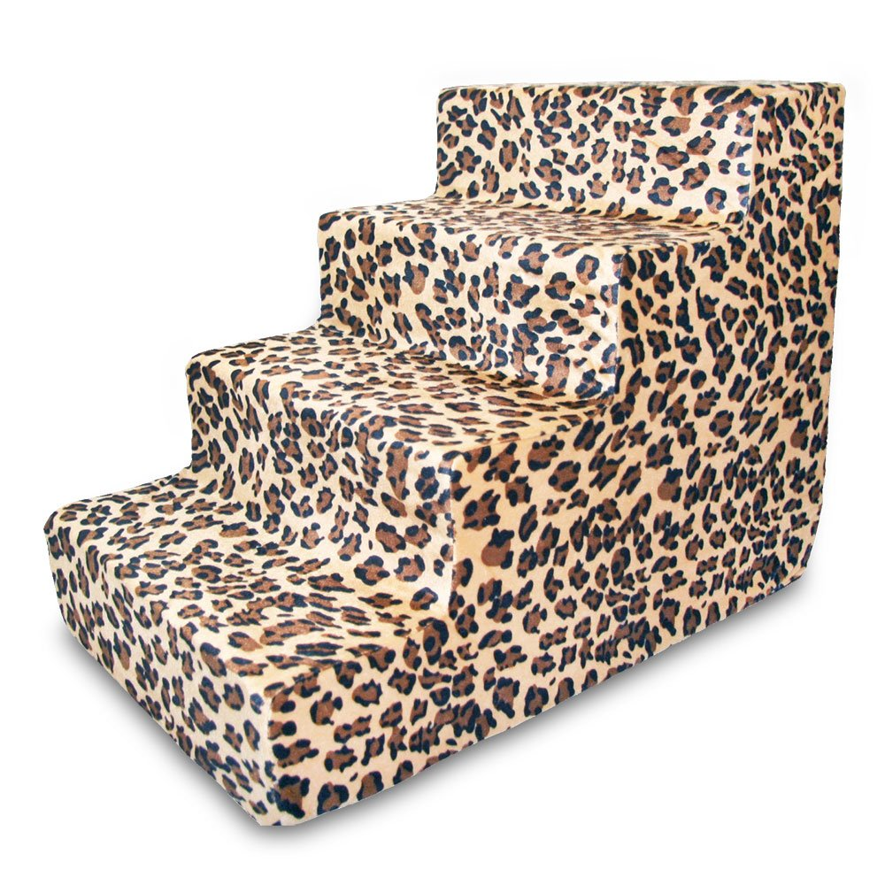 Best Pet Supplies ST225T-M Foam Pet Stairs/Steps, 4-Step, Animal Print by Best Pet Supplies, Inc. (Image #1)