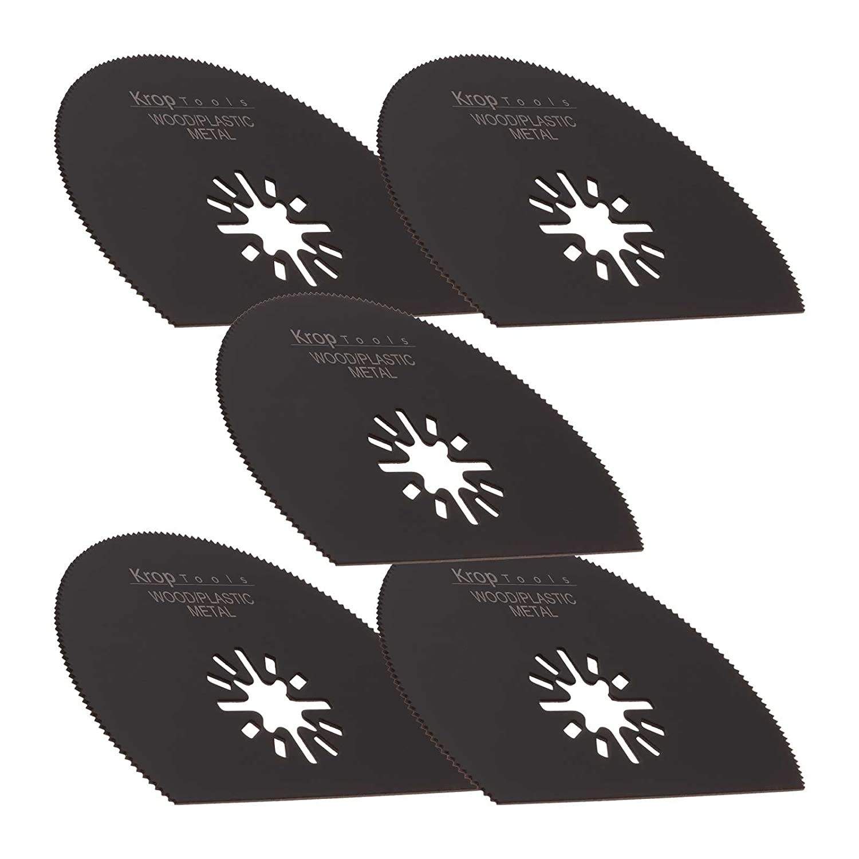 5 Bosch Multifunktionswerkzeuge Zubehö r FEIN MultiMaster HSS-Segment Metall, 80 mm Einhell Makita Milwaukee Skil WORX Sonicrafter von KROP Krop Tools