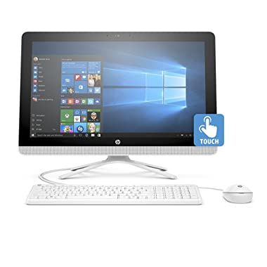 Newest HP Pavilion All-In-One Touchscreen 23.8  FHD Flagship Desktop PC, AMD A8-7410 Quad-Core, 8GB RAM, 1TB HDD, Windows 10, HP USB Wired Keyboard and Wired Mouse Included