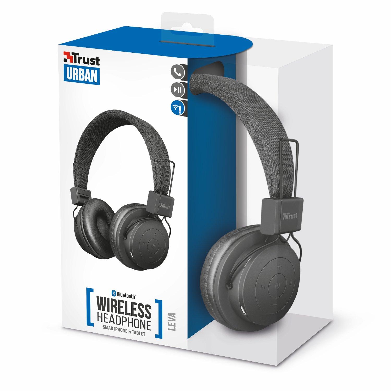 Trust Leva - Auriculares inalámbricos con Bluetooth, Color Negro: Amazon.es: Informática