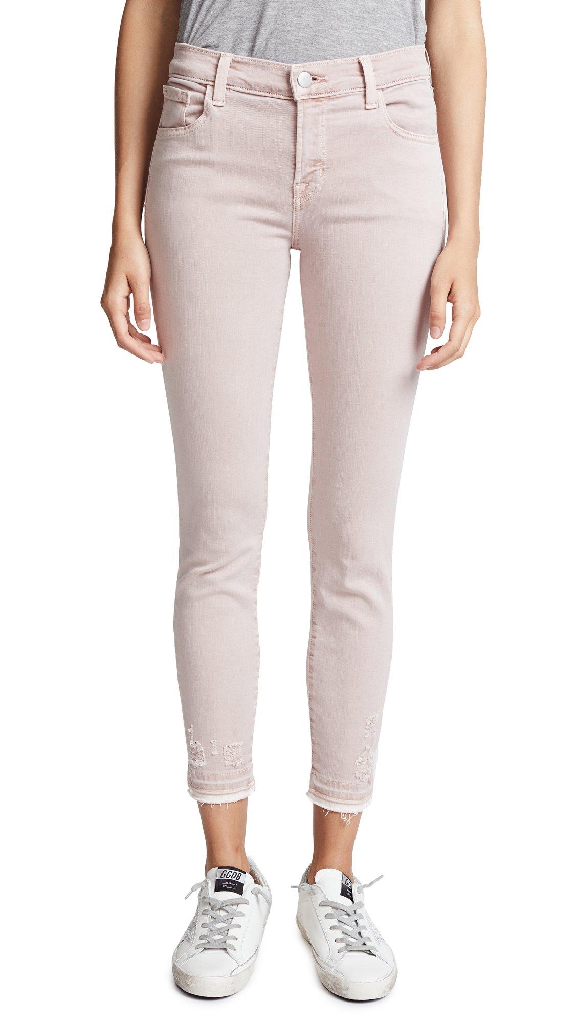 J Brand Women's 835 Mid Rise Crop Skinny Jeans, Vinca Destruct, 26