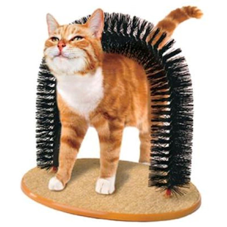 Arch Shaped Cat Scratcher and Self Groomer Brush / Massager - Pet ...